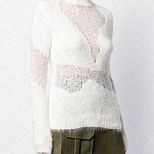 【WEEKEND】 UNRAVEL 部分透視 針織 長袖 上衣 毛衣 白色 19秋冬 折扣