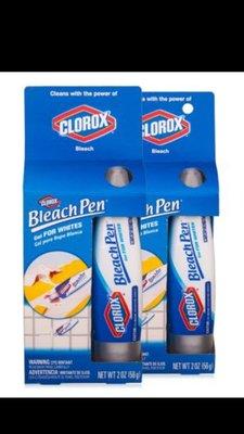 【我最便宜】美國CLOROX高樂氏兩用漂白筆 去霉 去漬 白色衣物 浴室縫隙 2oz【跨國快送】