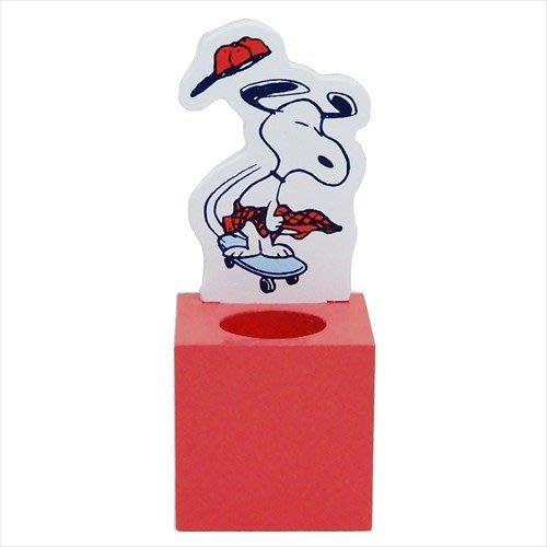 ◇FollowV◇日本文具《現貨》Snoopy史努比 小黃鳥胡士托 木製立架/印章架/筆架 絕版