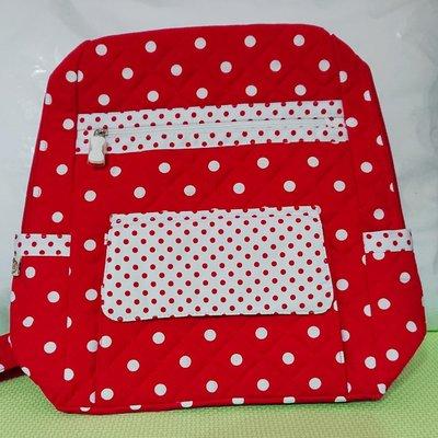 曼谷包NaRaYa泰國熱賣款紅色點點圖案後背包(E03)