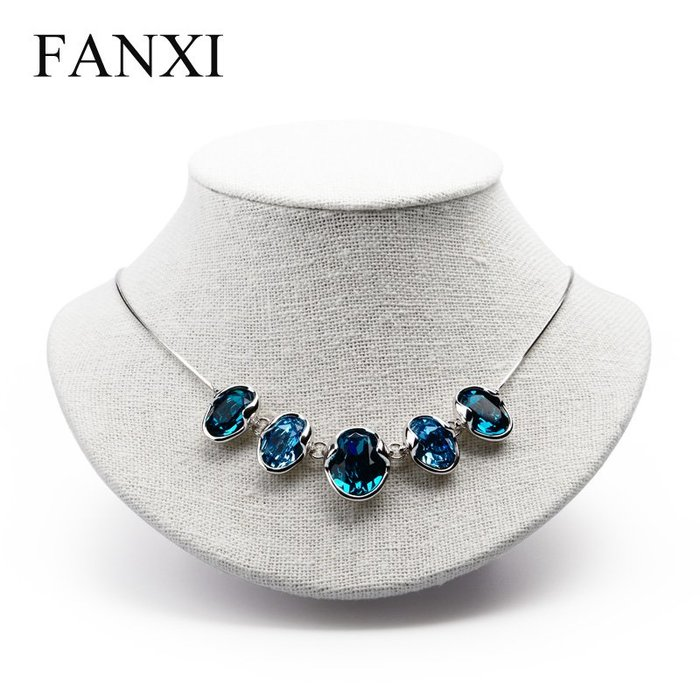 韓國Baby~凡西FANXI韓麻人像脖子項鍊展示架飾品模特項鍊架子珠寶展示道具
