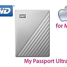 「Sorry」WD My Passport Ultra for Mac 4TB 炫光銀 Type-C 2.5吋 行動硬碟