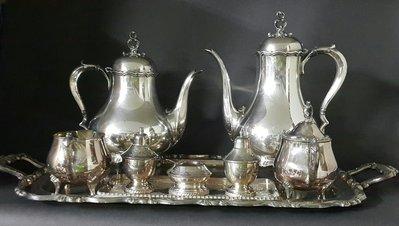 432高檔英國鍍銀壺組 Vintage Silverplate Ornate teapots (皇家貴族精品)
