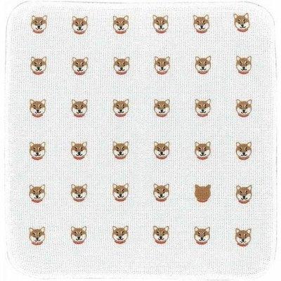 ˙TOMATO生活雜鋪˙日本進口雜貨人氣日本製柴犬療癒大臉滿版純棉廚房毛巾 擦拭布(預購)