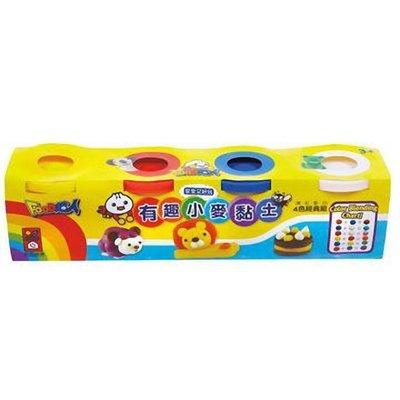 兒童無毒黏土-有趣小麥黏土4色經典組-FOOD超人