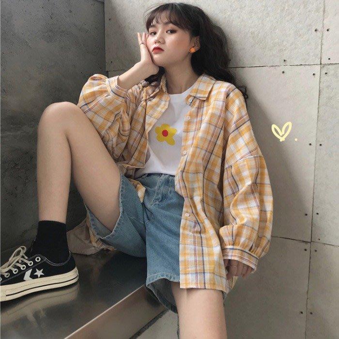 小香風 短袖T恤 時尚穿搭 心機上衣 韓版 寬松polo衫格子襯衫女設計感小眾防曬衣襯衣