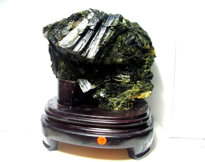 小風鈴~超人氣天然綠碧璽晶簇原礦擺件(電氣石)重:2864g