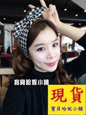 BHP057-韓國進口格子布藝蝴蝶結髮圈 髮箍 髮帶【現貨】韓國製 來自星星的你 全智賢 千頌伊