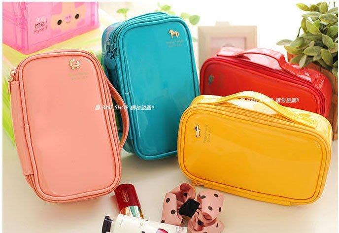 愛 BAG SHOP 韓包專賣 韓國品牌 果凍質感 化妝包 收納包 雙層款 賣場 350  4色 現貨