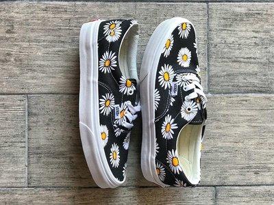 Vans Aut 小雛菊花 權志龍GD上腳 Vans上畫了小雛菊  清新自然 小紅書爆款 帆布鞋 懶人鞋 休閒鞋 男女鞋