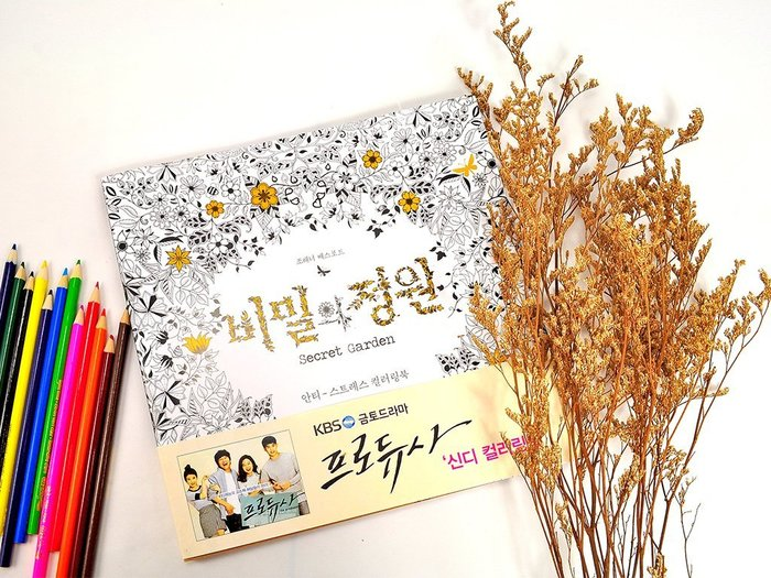 韓國 Secret Garden 祕密花園繪本 韓劇製作人 買就送油性彩色鉛筆 12 入【JSG-001】