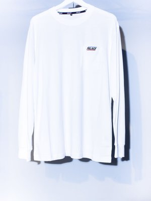 PLALCE Small Logo Pocket White Long sleeve Tee. 長袖 口袋 小logo 薄長袖