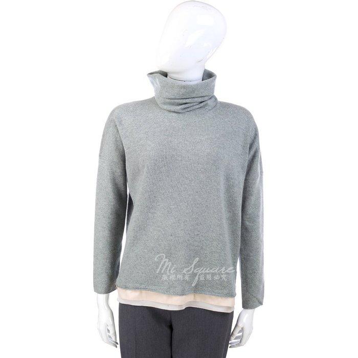 米蘭廣場 FABIANA FILIPPI 灰綠色下襬拼接設計高領毛衣 1340333-36