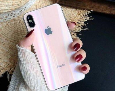 貝殼玻璃膜 炫彩玻璃後膜 蘋果 7 鋼化膜 iphone7/8/X/XS/XSmax 貝殼玻璃膜 後膜全屏