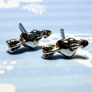 琥珀貓銀飾DIY【925純銀飾品】耳飾~耳針~N9955~愛神的箭~一對
