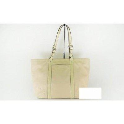 95%新 真品【Coach】全真皮 斯文款 Casual Tote Bag 淡黃色 手袋 (A0960-F13100) 100%絕對正版真貨,原$5,980