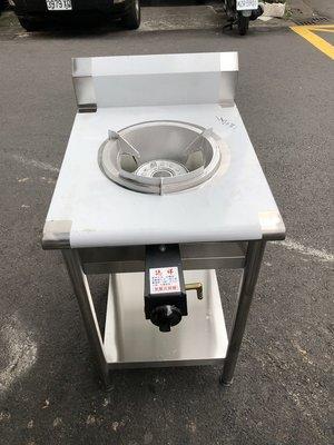 (高雄江) 單口炒台 不銹鋼桌子+電子式點火快速炒爐