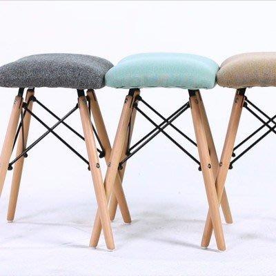 北歐簡約椅 組裝化妝椅餐椅電腦椅 化妝椅子 家用簡約現代軟面伊姆斯風椅_☆找好物FINDGOODS☆
