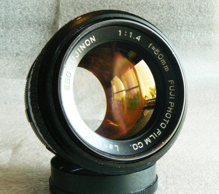 【悠悠山河】收藏級 黃金鍍膜 EBC FUJI FUJINON 50mm F1.4 M42 烯土鑭系玻璃鏡片無傷無霧無霉