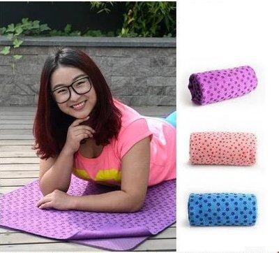 【瑜伽鋪巾-慢生活-抗菌纖維+PVC顆粒-183*63cm-1套/組】加厚瑜伽鋪巾防滑瑜珈毯加長加寬-56008