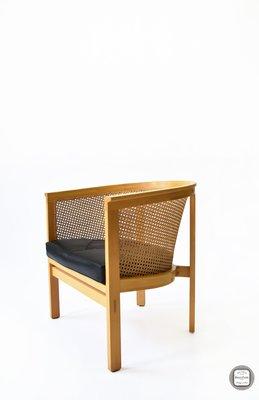 【 BRASS PARK 銅公園 】北歐藤編扶手單椅 古董/復古/二手老件/休閒椅/工作椅/單人沙發/主人椅/躺椅