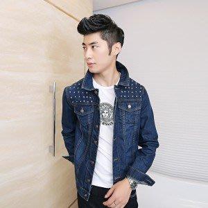 yes99buy加盟-2014秋裝새로운 男式韓味潮流立領個性牛仔水洗流行夾克 男式外套