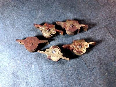 【懷舊。戶車】早期木窗戶車(滑輪)/5個一組