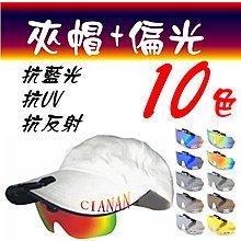 夾帽式 ! 眼鏡族可用 ! 防藍光 ! 運動夾鏡 ! Polaroid 寶麗來偏光太陽眼鏡+UV400 HSRY b