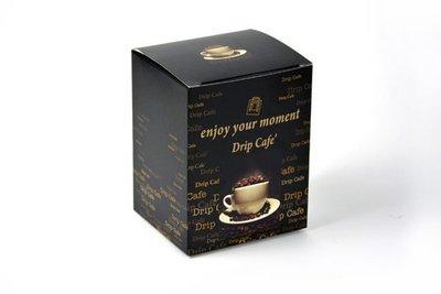 《達人包裝》彩圖咖啡盒SA-D13 (10*9*13cm) /50入/425元〈掛耳式咖啡外盒,濾泡式咖啡外盒〉