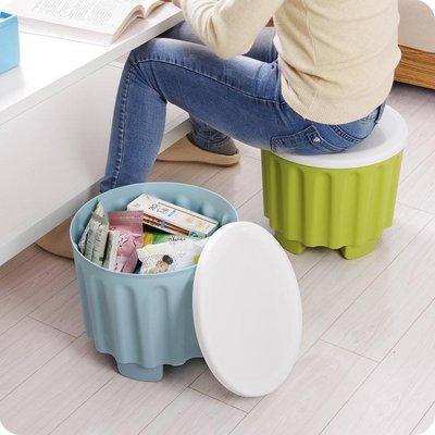 可疊加收納凳兒童儲物凳換鞋凳多功能彩色...