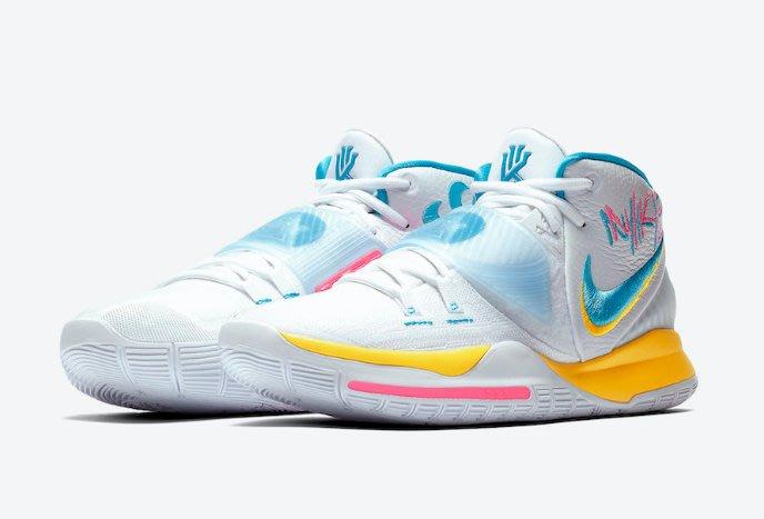 南◇2020 5月 Nike Kyrie 6 Neon Graffiti BQ4631-101 白藍粉紅色 ki 籃球鞋