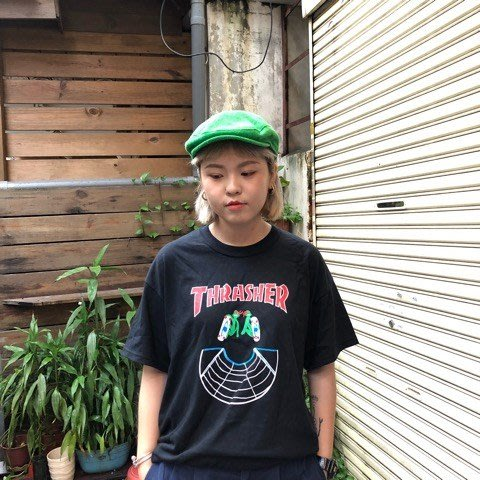 【FAITHFUL】THRASHER DOUBLES S/S TEE【144691】短TEE 黑