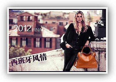 yes99buy加盟-2013夏季新款限量版頭層牛皮包包經典百搭款真皮女包震撼發布0951