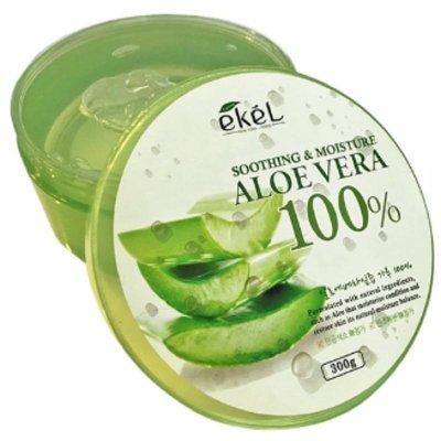 *魅力十足* 韓國ekel 100% 舒緩保濕補水蘆薈凝膠 蘆薈膠 300g