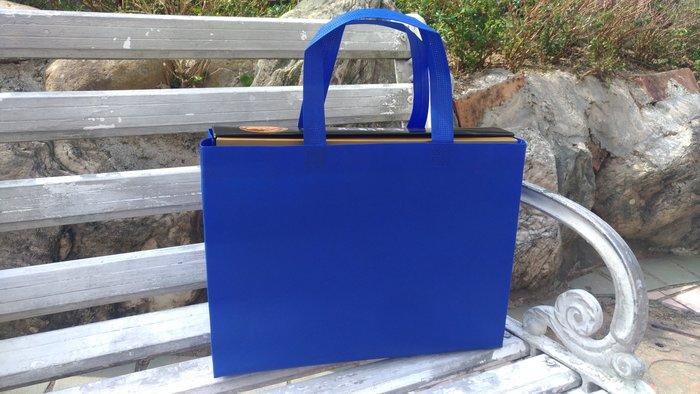 現貨新深藍 不織布袋 每個7元滿1000免運 精美紙袋 購物袋 服飾袋 手提袋35*10*25cm每包50個350元
