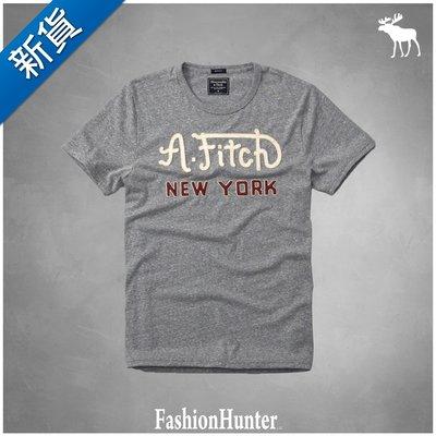 新貨【FH.cc】A&F 短袖T恤 LOGO GRAPHIC TEE 灰 刺繡貼布Logo HCO