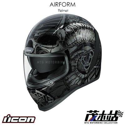 ❖茂木站 MTG❖ 美國 ICON AIRFORM 全罩 安全帽 內墨片 獨特 不易撞帽。SACROSANCT 黑