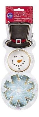 *愛焙烘焙* Wilton 餅乾切模 雪人3件組 餅乾模 高帽子 雪人 造型切模 惠爾通 WT2308-5072