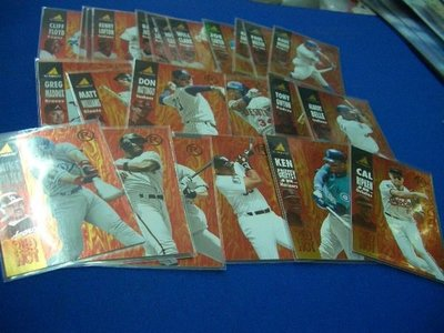 阿克漫277-1~MLB-1995年Pinnacle Red Hot 特卡一套25張