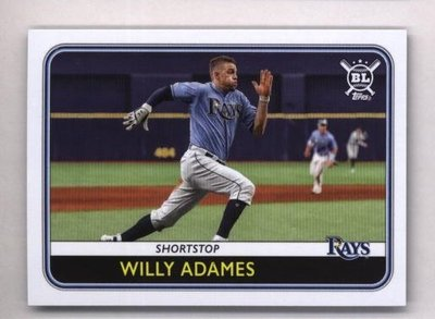 2020 Topps Big League #87 Willy Adames - Tampa Bay Rays