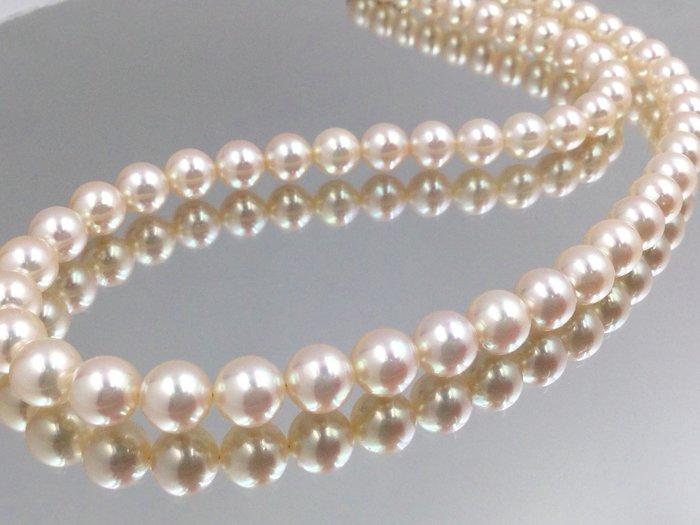 一元起標 日本養珠 項鍊 珠圓潤滑 慛燦奪目皮光閃耀 真珠直徑6-6.5mm 顆顆精選 天然淡水養珠正圓