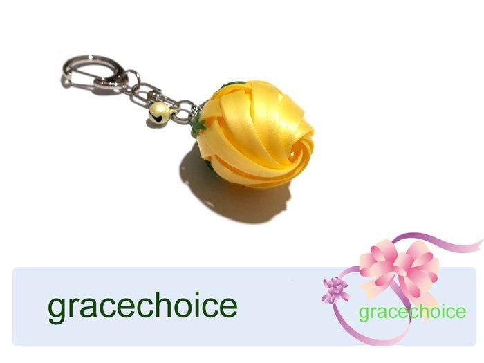 風姿綽約--含苞玫瑰鑰匙圈(D010)~ 珍珠帶編織~贈送外國朋友的好禮