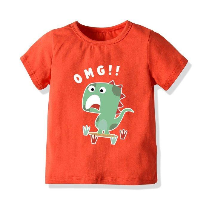 男寶恐龍卡通T恤 中大童 兒童 寶寶純棉短袖
