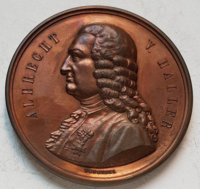 瑞士銅章 1877 Swiss Hundertjahrige Albreght V. Haller Medal.