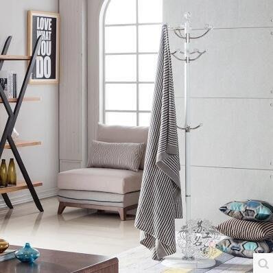 【優上】旋轉鋁合金衣帽架臥室金屬落地室內衣服架白色掛衣架「白色」