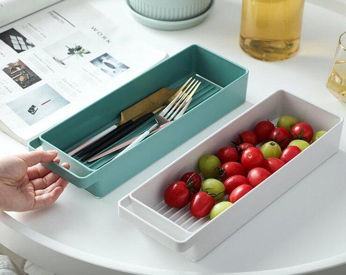 Kimi➹ 廚房放碗筷茶杯子瀝水架家用長方形桌面餐具收納盒