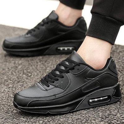 男女款 全黑透氣氣墊舒適 全黑鞋 慢跑鞋 運動鞋 休閒鞋 氣墊鞋 上班鞋 Ovan 台南市