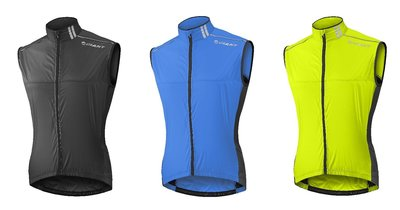 公司貨 GIANT 捷安特 SUPERLIGHT 超輕量自行車風衣背心 可收納至口袋 3色可選