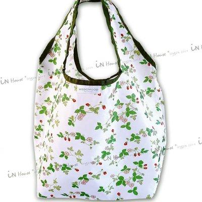 IN House*🇹🇼現貨ECO BAG日本 贈品包 英國 野莓 圖騰 摺疊 收納袋 托特包 手提袋 購物袋 環保袋