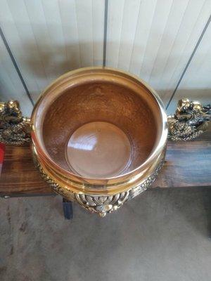 神明爐 雙耳爐 銅製  1尺3